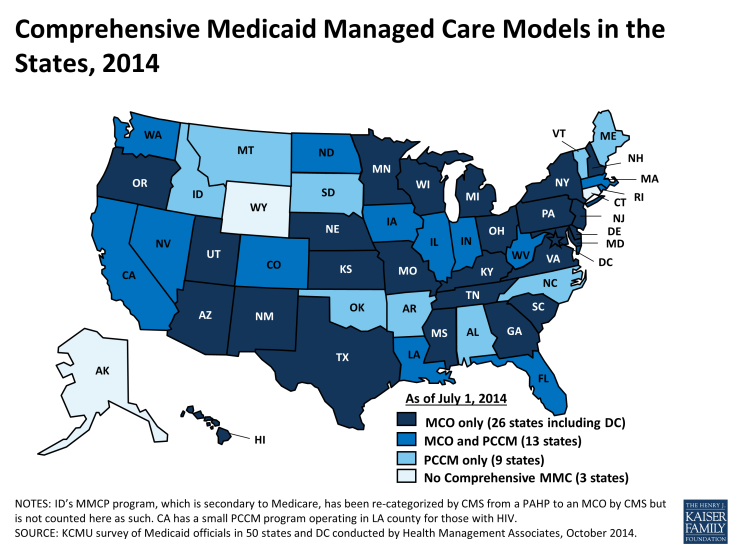 Comprehensive Medicaid Managed Care Models in the States 2014
