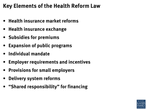 Key Elements of the Health Reform Law