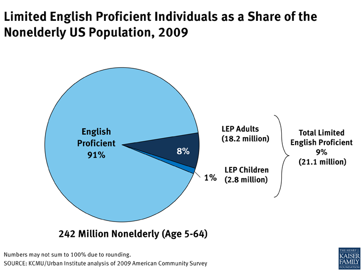 Limited English Proficient Individuals as a Share of the Nonelderly US Population, 2009