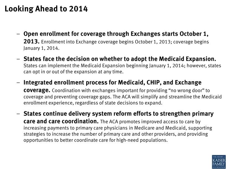 Looking Ahead to 2014