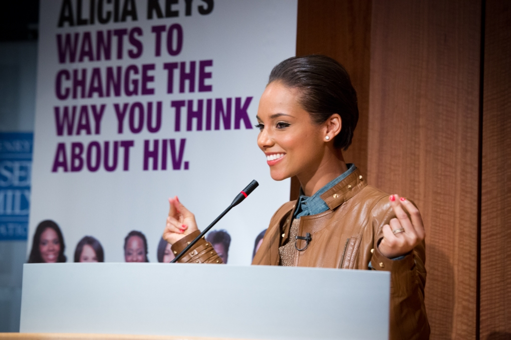 Alicia Keys, Greater Than AIDS EMPOWERED Campaign Launch, Kaiser Family Foundation, April 15, 2013. Photo credit: imagelinkphoto.com/Dennis Kan