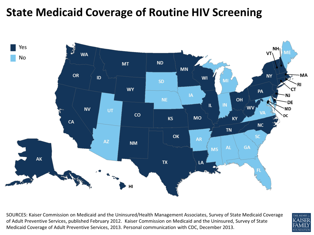 State Medicaid Coverage of Routine HIV Screening