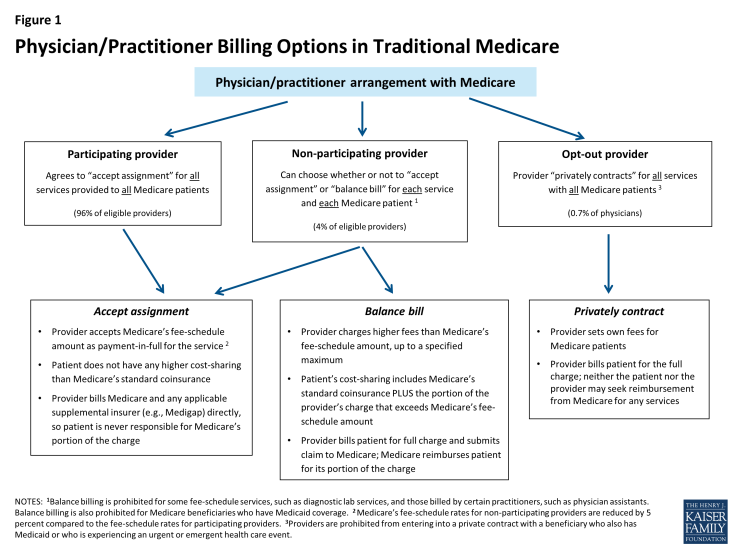 Figure 1: Physician/Practitioner Billing Options in Traditional Medicare