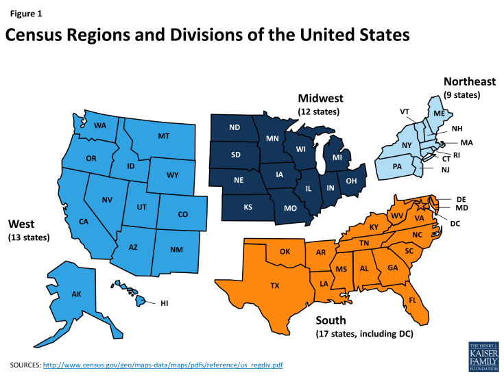 Figure 1: Census Regions and Divisions of the United States