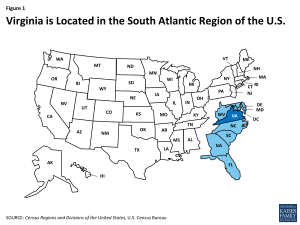 Virginia is Located in the South Atlantic Region of the U.S.