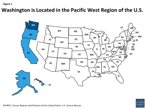 Figure 1: Washington is Located in the Pacific West Region of the U.S.