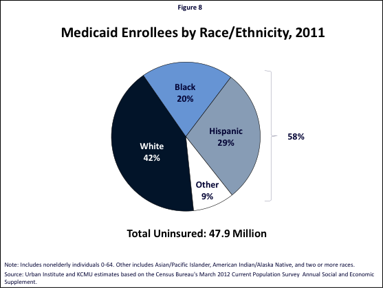 Figure 8: Medicaid Enrollees by Race/Ethnicity, 2011