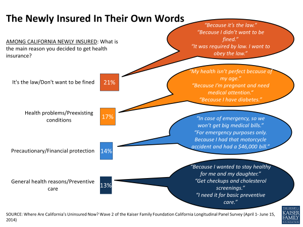 The Newly Insured In Their Own Words