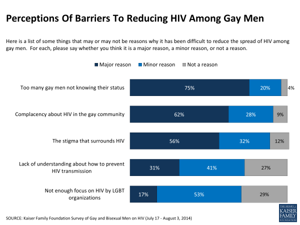 Perceptions Of Barriers To Reducing HIV Among Gay Men
