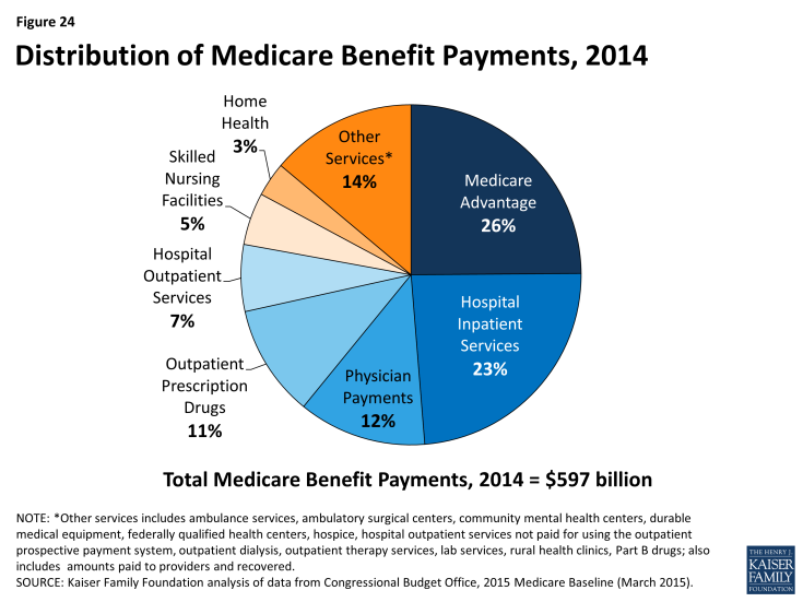 Figure 24: Distribution of Medicare Benefit Payments, 2014