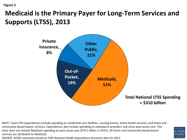 Figure 3: Medicaid is the Primary Payer for Long-Term Services and Supports (LTSS), 2013