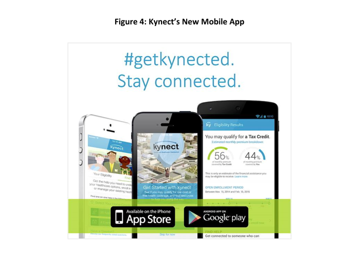 Figure 4: Kynect's New Mobile App