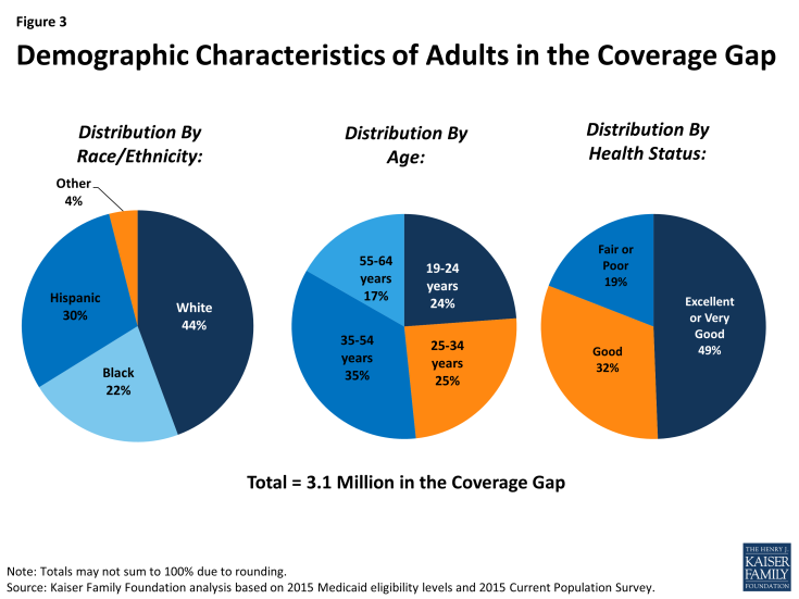Figure 3: Demographic Characteristics of Adults in the Coverage Gap