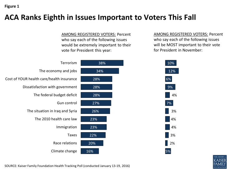 Figure 1: ACA Ranks Eighth in Issues Important to Voters This Fall