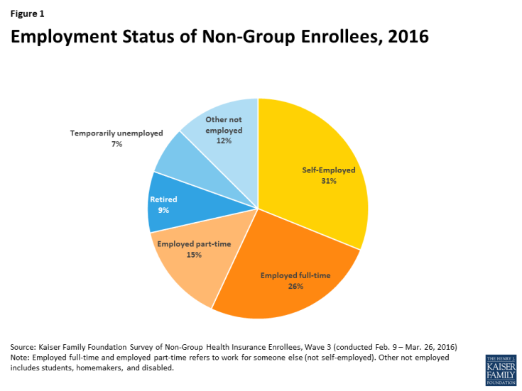 Figure 1: Employment Status of Non-Group Enrollees, 2016