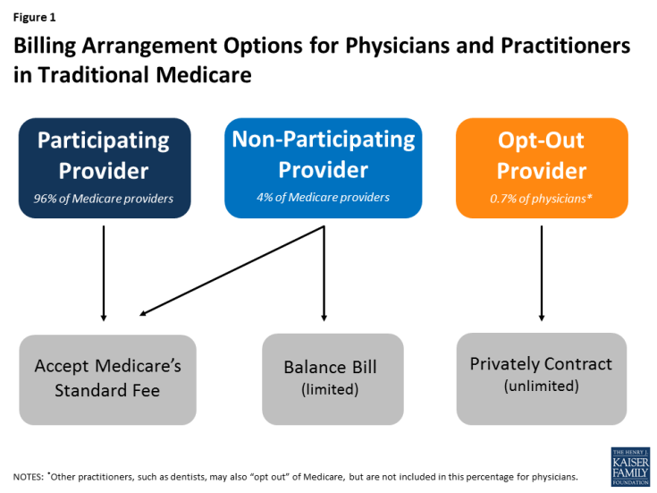Figure 1: Billing Arrangement Options for Physicians and Practitioners in Traditional Medicare