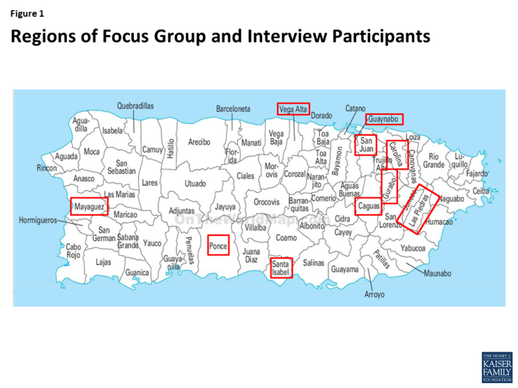 Figure 1: Regions of Focus Group and Interview Participants