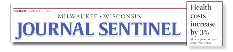 Headline from the Milwaukee Journal Sentinal