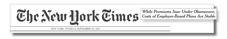 Headline from the New York Times