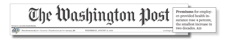 Headline from the Washington Post