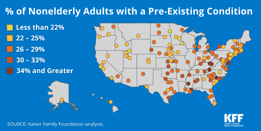 Mapping Pre-existing Conditions across the U.S. | The Henry J ...