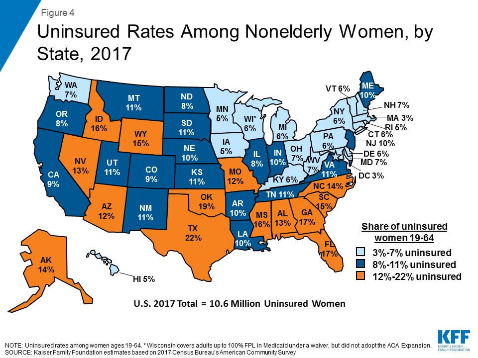 Women\'s Health Insurance Coverage | The Henry J. Kaiser Family ...