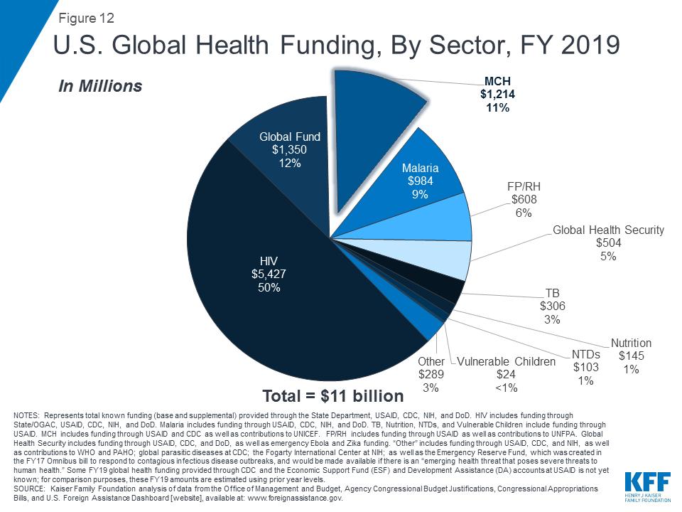 Breaking Down the U S  Global Health Budget by Program Area