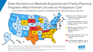 Map Women's Access to Postpartum Coverage By State