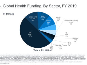 U.S. Global Health Funding, By Sector, FY 2019