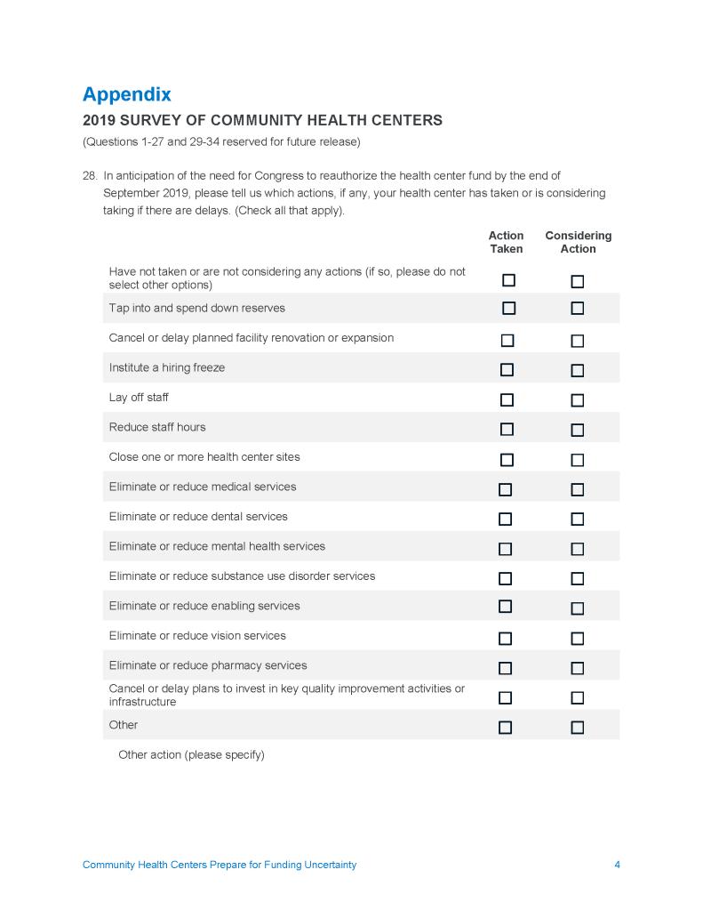 Appendix Survey Questions