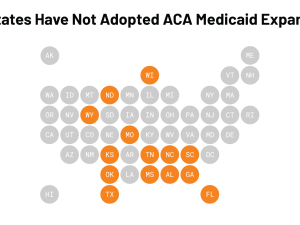14 States Have Not Adopted ACA Medicaid Expansion