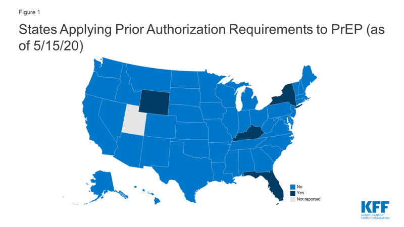 Map of States Applying Prior Authorization Requirements to PrEP (as of 5/15/20)