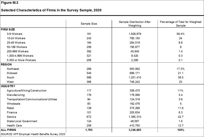 Figure M.3: Selected Characteristics of Firms in the Survey Sample, 2020