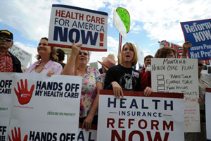 Attacks May Force Democrats To Scale Back Health Reform Ambitions