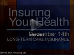 Few Seniors Have Long-Term Care Insurance
