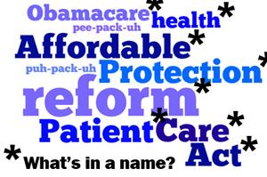 Rebranding 'Obamacare'