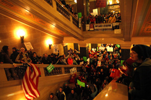 Wisconsin Union Battle Masks Medicaid Tensions
