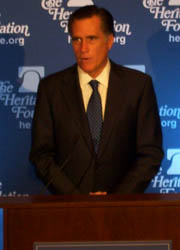 Republican Presidential Hopeful Mitt Romney On Health Care