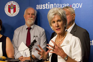Sebelius: We're Open to 'Uniquely Texan' Approach